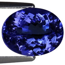 2.08 Ct IGI Certified A+ Natural D Block Tanzanite Blue Violet Color Oval Cut