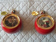 Norman Rockwell's Christmas Classics Heirloom Porcelain Ornament Collect - Set 2