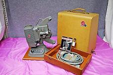 Vintage Dejur 8mm Film Projector Model 750 in Original Case w/ Splicer M3773