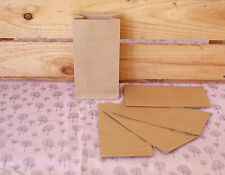 50 Brown Small Craft Paper Bags Favour Lolly Bag Lott & Gift Bags Lolly Buffet