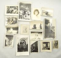 LOT OF 15 1940s & 1950s PHOTOGRAPHS ~ VINTAGE PHOTOS ~ Vacation & Holiday ~ USA