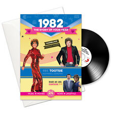 36th BIRTHDAY ANNIVERSARY GIFT -1982 Card Retro CD Book  Year Greeting Card