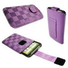 caseroxx Slide-Pouch for HTC Desire HD in purple made of faux leather