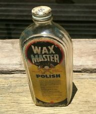 1950's Glass Wax Master Polish Bottle