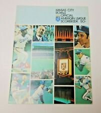 1974 KANSAS CITY ROYALS PROGRAM SCORECARD VS MINNESOTA TWINS RARE PROGRAM MLB