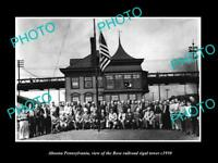 OLD LARGE HISTORIC PHOTO OF ALTOONA PENNSYLVANIA THE ROSE RAILROAD TOWER c1950