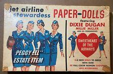 "1950'SJAYMAR ""JET AIRLINE STEWARDESS PAPER DOLLS"" FEATURING DIXIE AND MILLIE SET"