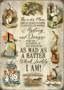 There Is A Place... Alice In Wonderland Collage Fridge Magnet 90mm x 70mmm (og)