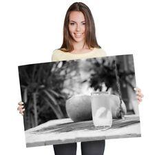 A1-Natural De Agua Jugo de Coco joven 60X90cm180gsm impresión BW #42706