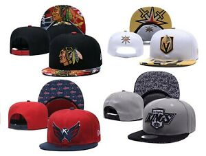 NHL Hockey Teams Logo Fashion Embroidered Unisex Hat Adjustable Snapback Cap