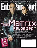 Entertainment Weekly Magazine The Matrix Reloaded Bands Buffy Dawson's Creek