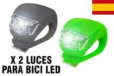 LINTERNA LUCES LED BICICLETA SILICONA 3 MODOS DE LUZ PARA BICI LUCES DELANTERA