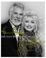 DOLLY PARTON & KENNY ROGERS SIGNED AUTOGRAPH 8X10 RP PHOTO ISLANDS IN THE STREAM