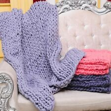 Winter Knitted Blanket Soft Thick Sofa Bed Sheets Covers Handmade Throw Blankets