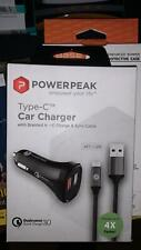 PowerPeak Rapid Car Charger For Type C Cell Phone
