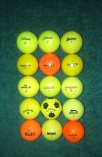 15 Color Golf Balls ++ Assorted Mixed ++ Orange Yellow Optic Colorful ++ No Logo