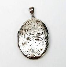 Vintage Fred Manshaw Ltd Sterling Silver Oval Locket, English