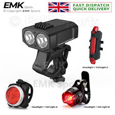 New Design LED Bicycle Lights Set Water-Resistant Head Light and Tail Light