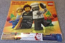 2016 Lego Wall Calendar - BN and Factory Sealed
