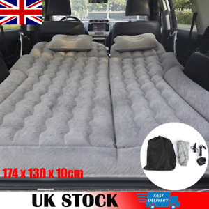 Inflatable Car SUV Air Bed Mattress Back Rear Seat Rest 2 Pillows Travel Camping
