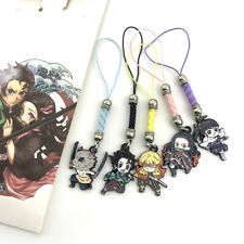 5 pcs Pack Demon Slayer Kimetsu no Yaiba Mobile Cell Phone Strap Keychain Charm