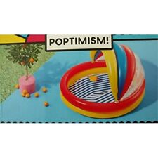 Kiddie Pool Inflatable With Canopy 59L x 54W x 39
