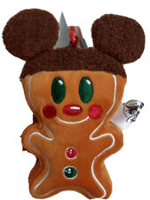 Disney Parks Mickey Mouse Gingerbread Man Plush Keychain Christmas Holiday 2020