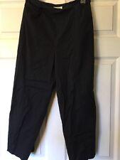 Talbots's Women's Black Capri Cropped Pants Stretch Sz 10