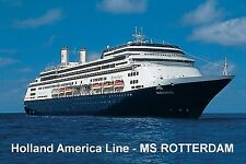 SOUVENIR FRIDGE MAGNET of CRUISE SHIP ROTTERDAM - HOLLAND AMERICA LINE
