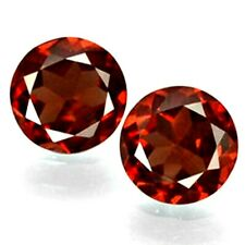 6mm Round Faceted Pair of Natural Mozambique Garnet Loose Calibrated Gemstone