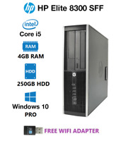 HP 8300 Elite Desk SFF i5 3470 3.2GHz 4GB 250GB updates to Win10 Pro