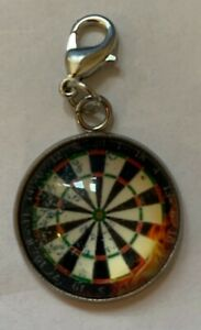 Dartboard Keyring 2cms Round For Your Dart Case or Wallet