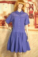Vintage Spiegel Together shirt dress purple midi short sleeve missy size 6
