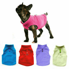 Dog Vest Soft Clothes Solid Candy Color Dog T-shirt Dog Harness Leash Pug Coat