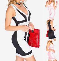 Sexy Two Tone Color Block Casual Bodycon body hugging Clubwear mini Dress BD196