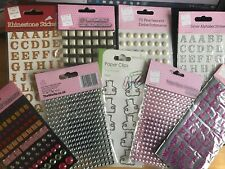 Alphabet Letters Gems, Pearls, Rhinestone, Pearl shaped gems Free uk P&P
