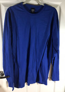 Hanes Men's Perfect-T Long Sleeve T-shirt (2-pack) Deep Royal Blue XL