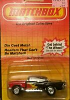 Matchbox '57 Chevy - Black with Flames on US Card