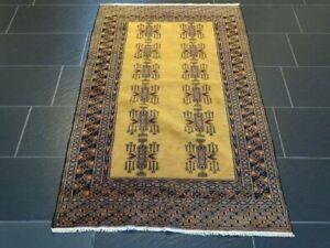 Feiner Handgeknüpfter Orientteppich BUCHARA Jomut Afghan Carpet Tapis 155x95cm