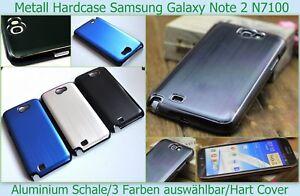 Chrom Bumper Alu Cover Hard Case Samsung GALAXY Note 2 N7100 Schutzhülle Folie