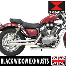BLACK WIDOW XV535 XV 535 VIRAGO PIPES DRAG de systèmes d'échappement INOX