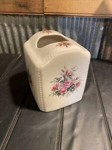 Vintage Ceramic Tissue Box Cover Athena Rose Rhapsody Floral Shabby Chic USA