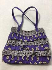 Vera Bradley Simply Violet Cha Cha Tiered Ruffle Purse Shoulder Bag Paisley