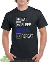 Eat Sleep Game Repeat Funny Gaming T-Shirt Gift