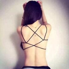 Women's Light Support Cross Strappy Open Back Cotton Yoga Sports Bra