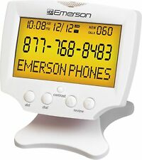 Unused Emerson EM-60 Large Display Talking Caller ID with 60 Number Memory