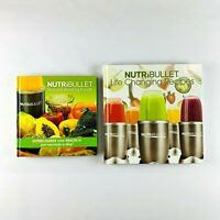 NutriBullet Natural Healing Foods & Life Changing Recipes 2x Hardcover Book Set
