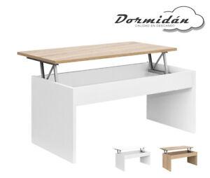 Mesa de centro elevable MC-1, salon / comedor, 100cm (largo) x 50cm (ancho)