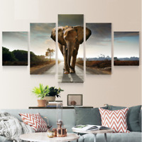 Modern Large Abstract Canvas Print Elephant Unframed Wall Decor Art Picture Home