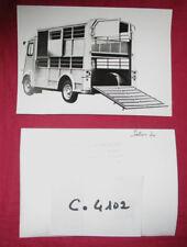 N°C.4102 / photo  CITROEN type H bétaillére carrossée par HEULIEZ salon 1970